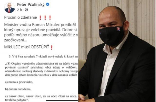 Budú na Slovensku voliť iba zaočkovaní? Pčolinský prišiel so šokujúcim statusom