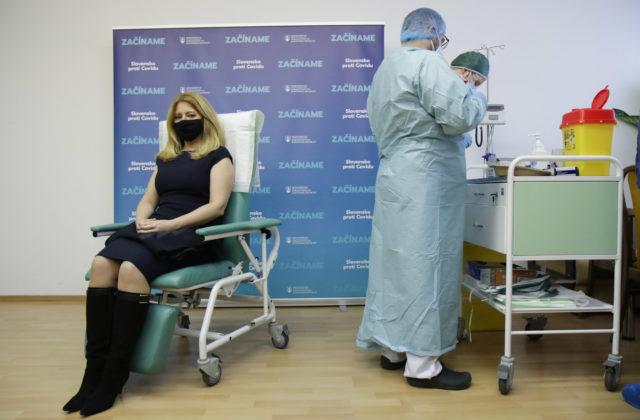 Prezidentka Čaputová dostala druhú dávku vakcíny proti COVID-19