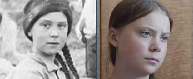 Je Greta Thunbergová na 120-ročnej fotografií?  Veľká konšpiračná teória + VIDEO