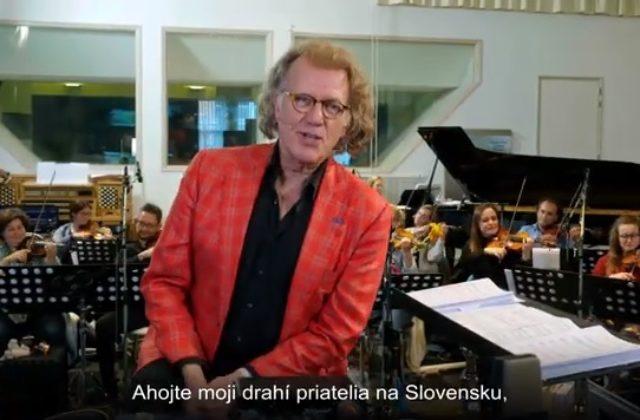 André Rieu poslal videopozdrav, koncert kráľa valčíkov sa uskutoční