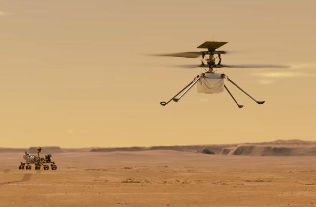 NASA sa pokúsi na Marse vzlietnuť s helikoptérou Ingenuity, prvé štarty sú naplánované už na apríl