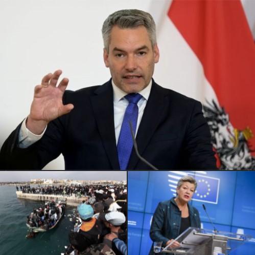 Už žiadne prerozdeľovanie migrantov, povedal rakúsky minister vnútra Nehammer