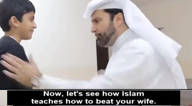 """Šok: Katarský sociológ učí moslimských mužov vo virálnom videu, ako správne biť ženy. """"Najprv ju musí napomenúť…a keď to nepomôže…"""""""